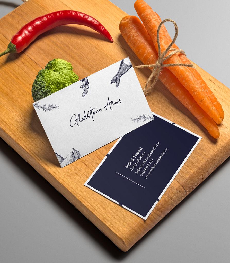 Boson Web Milk and Tweed Digital and Print Graphic design Agency menu design pub logo design
