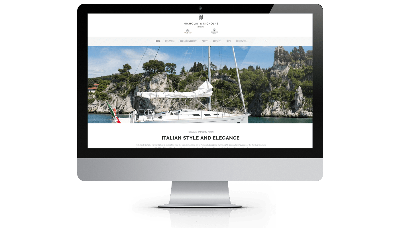 Sailing website design
