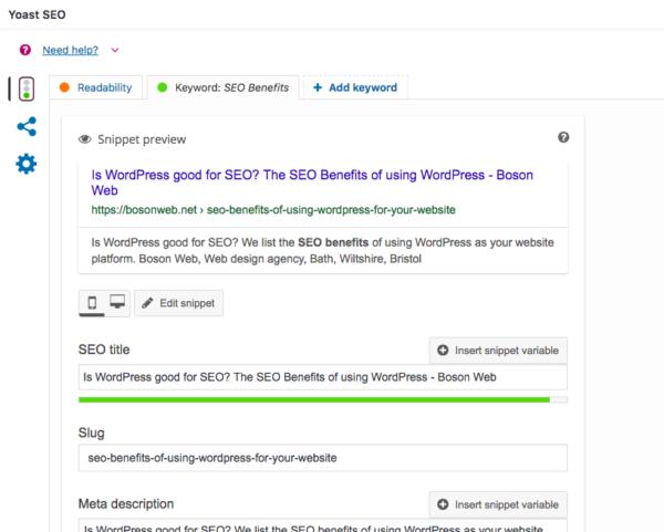 Yoast SEO in WordPress