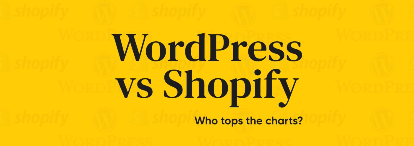WordPress vs Shopify blog banner