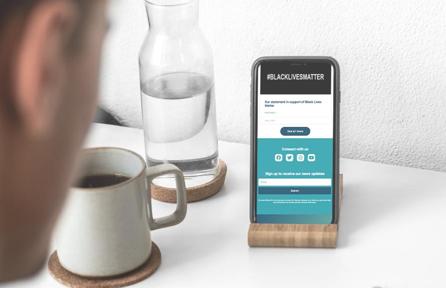 wessex-museum-website-design-phone