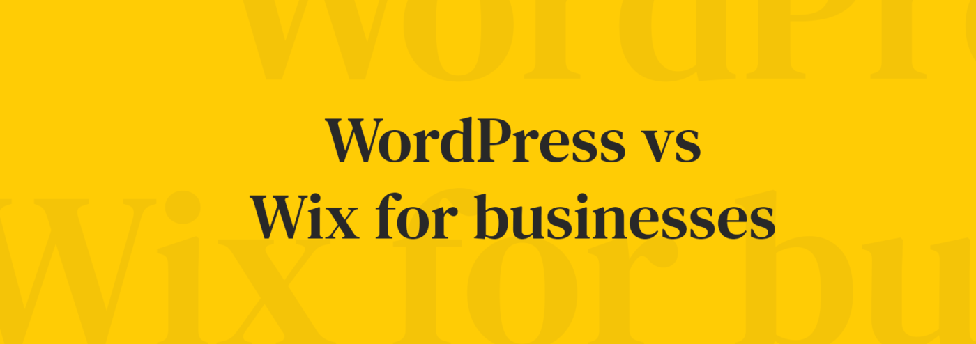 Wordpress vs wix blog banner
