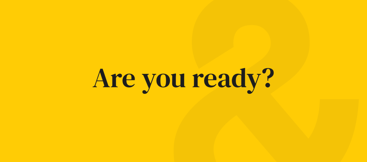 Are you ready banner