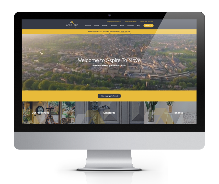 Aspire To Move website design
