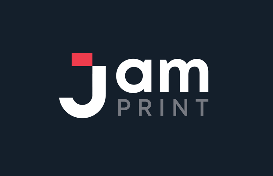 Jam Print logo design