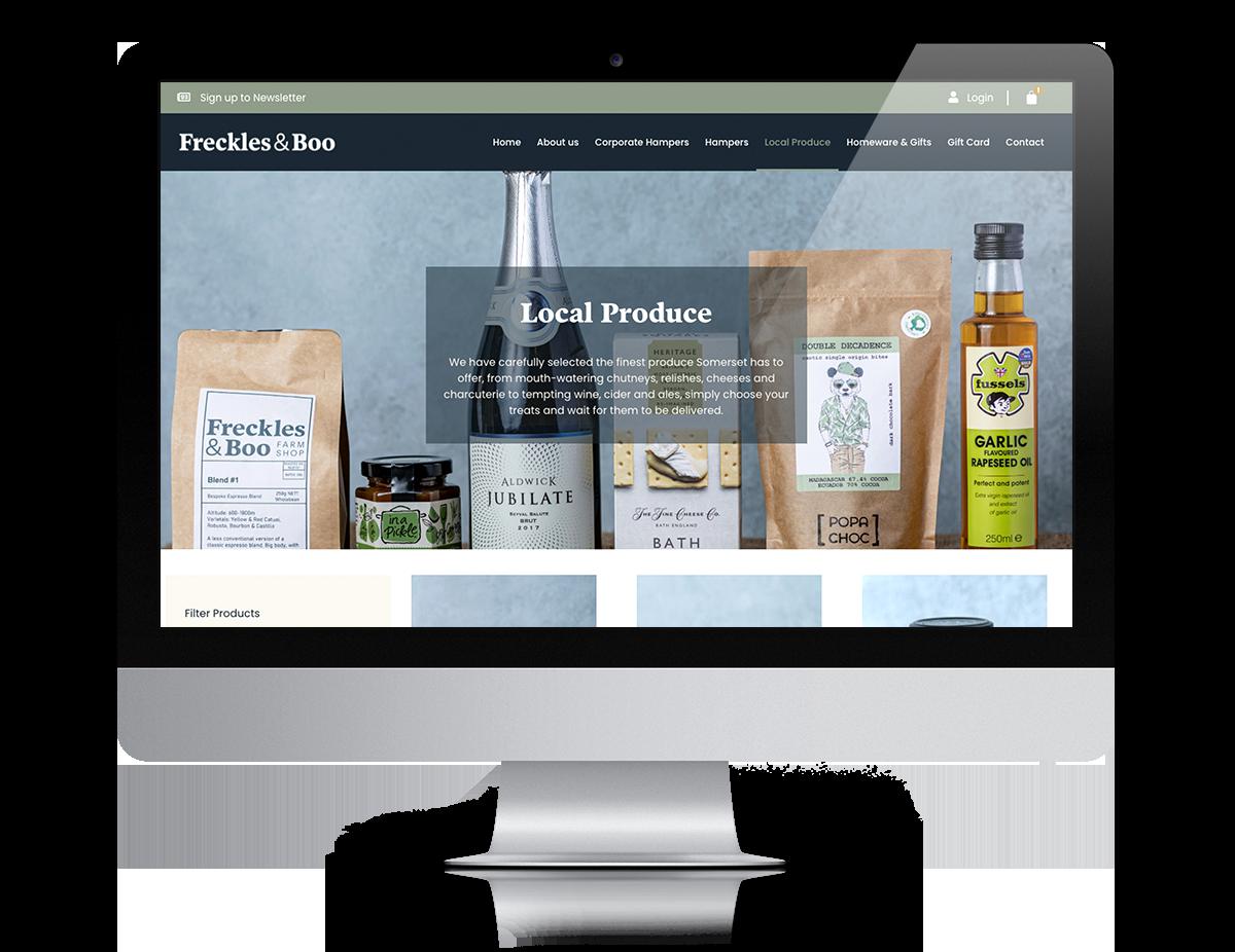 freckles & Boo website design